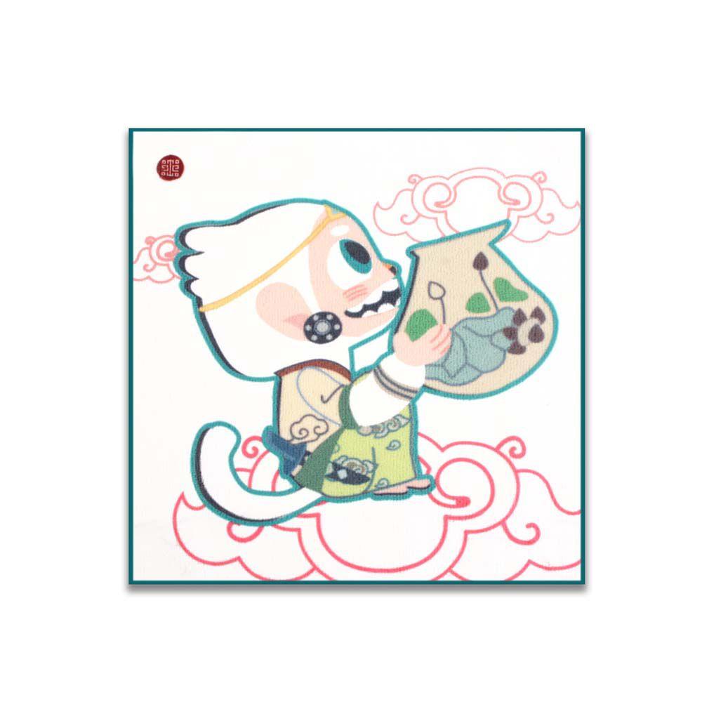 故宮精品 | 哈奴曼與瓶兒童方巾