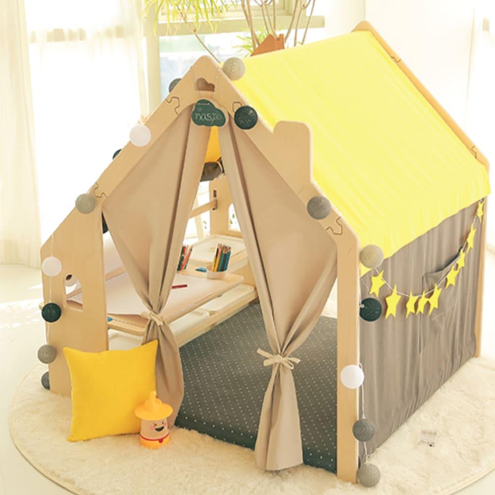 Naspa 韓國手工製作頂級樺木遊戲屋/繪圖型-摩登