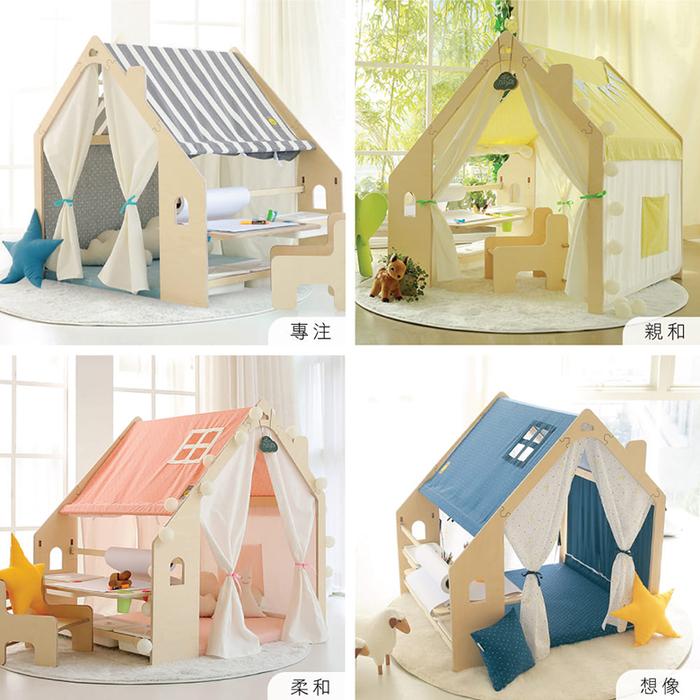 Naspa 韓國手工製作頂級樺木遊戲屋/繪圖型-海洋