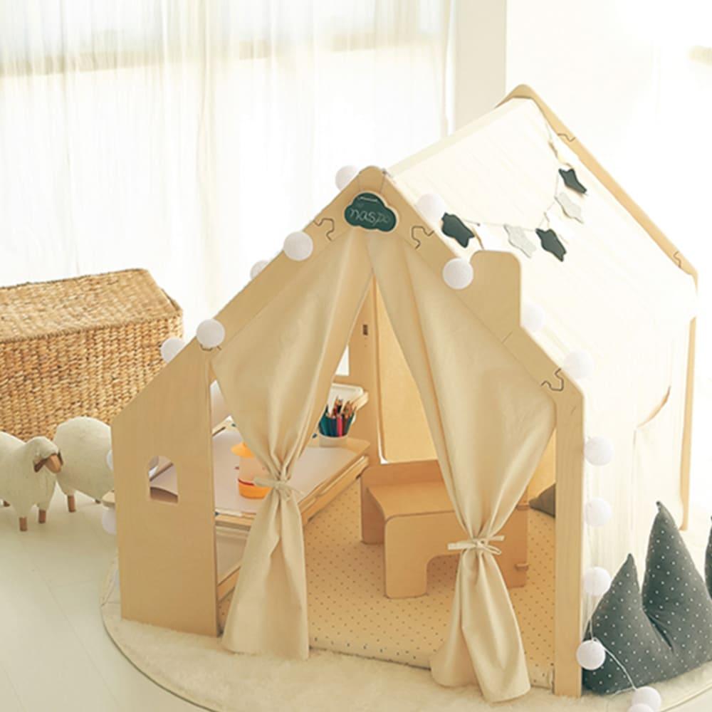 Naspa|韓國手工製作頂級樺木遊戲屋/繪圖型-和諧