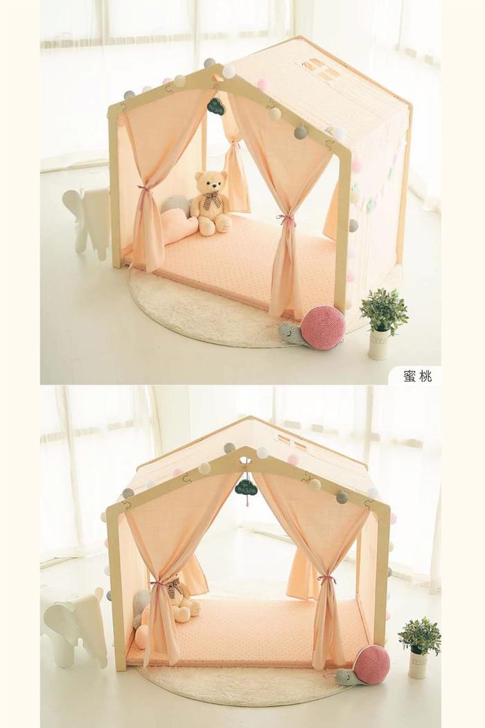 Naspa|韓國手工製作頂級樺木BONO遊戲屋/加大型-蜜桃