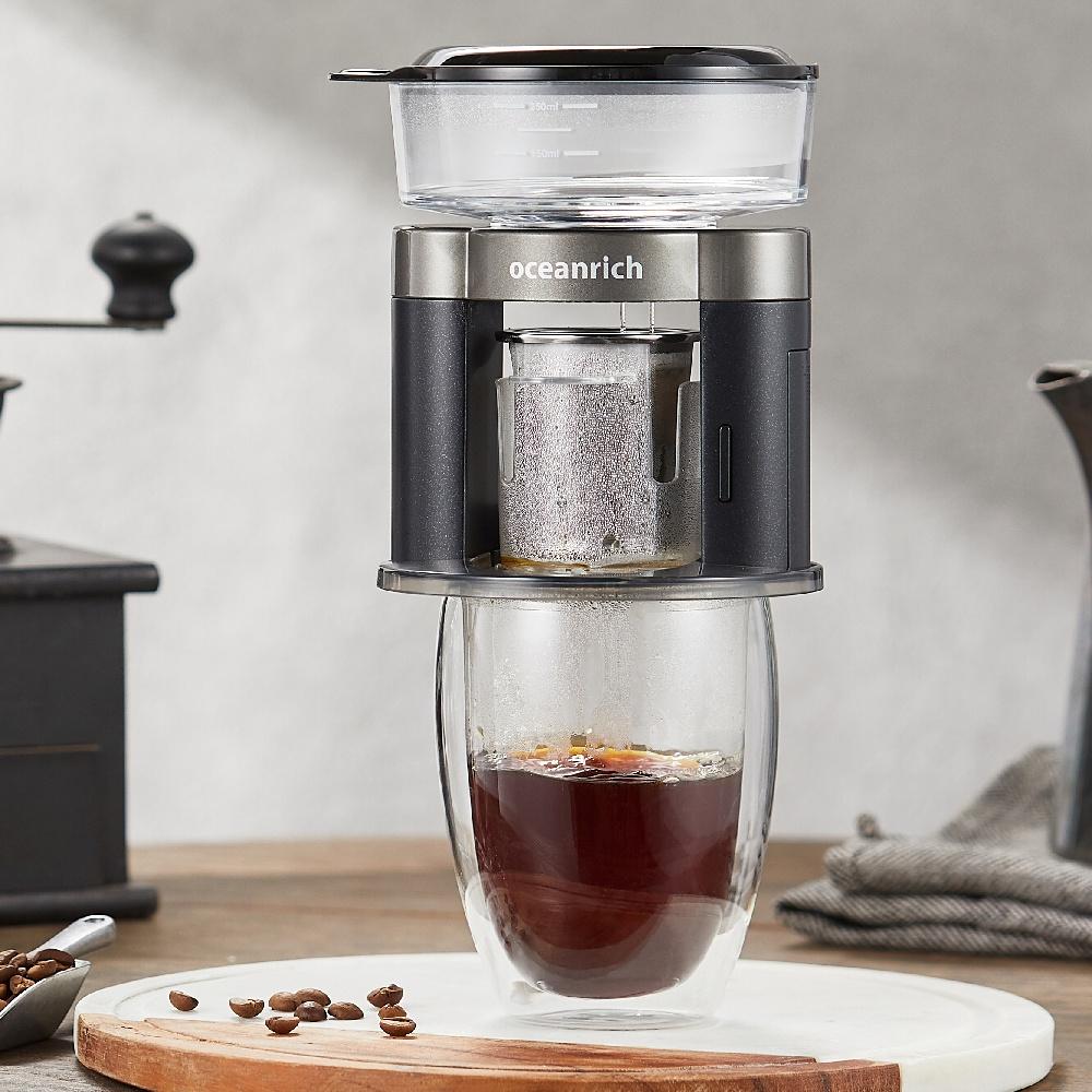 Oceanrich|二合一自動旋轉萃取咖啡機(率性黑)