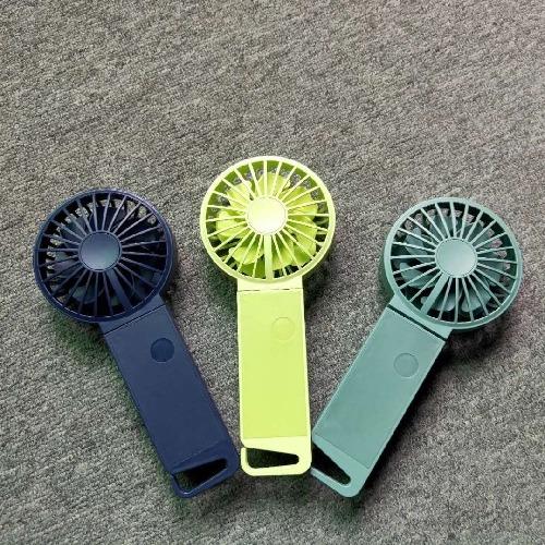 AIRMATE USB 掛扣手持雙葉扇UD801(螢光綠)
