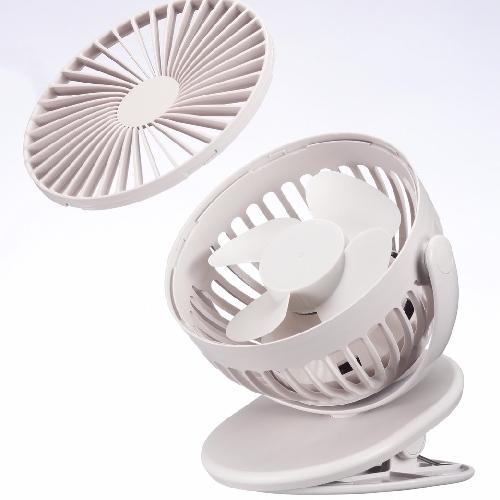 AIRMATE UD702桌/夾式充電風扇(氣質灰)