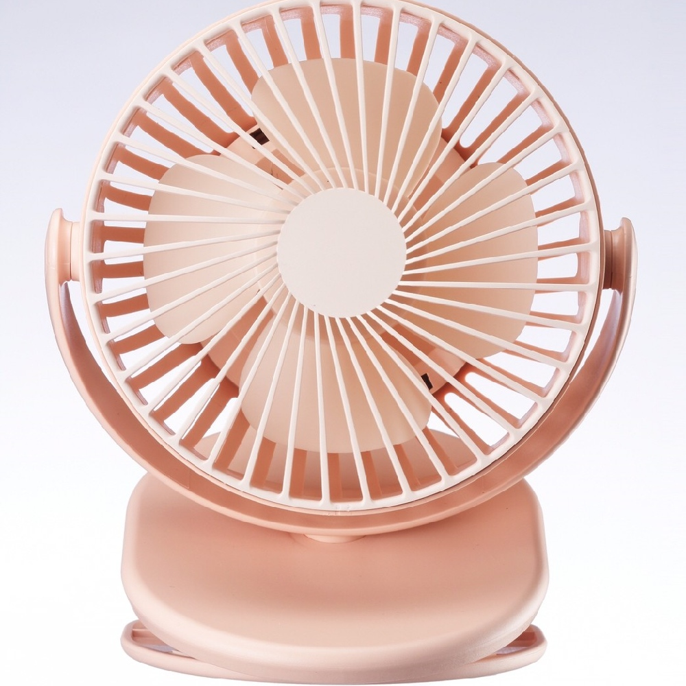AIRMATE|UD702桌/夾式充電風扇(萌萌粉)