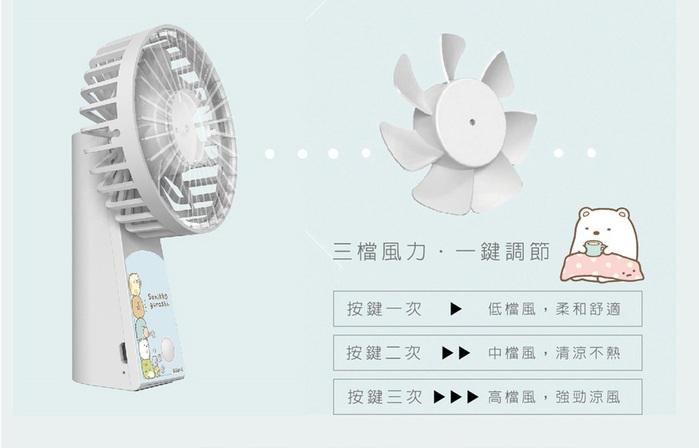 AIRMATE USB垂直翻轉充電風扇(角落小夥伴款-白熊白)