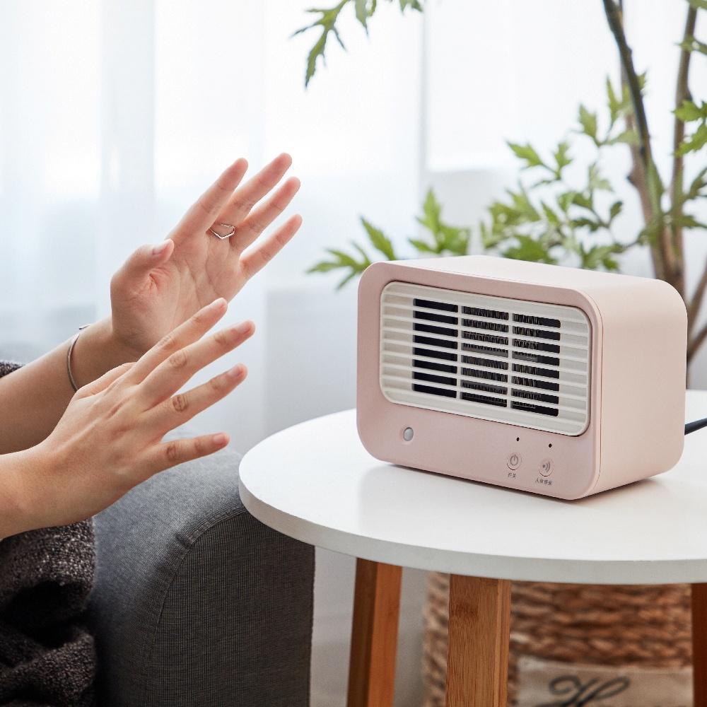 AIRMATE|人體感知美型陶瓷式電暖器HP060M(暖暖粉)