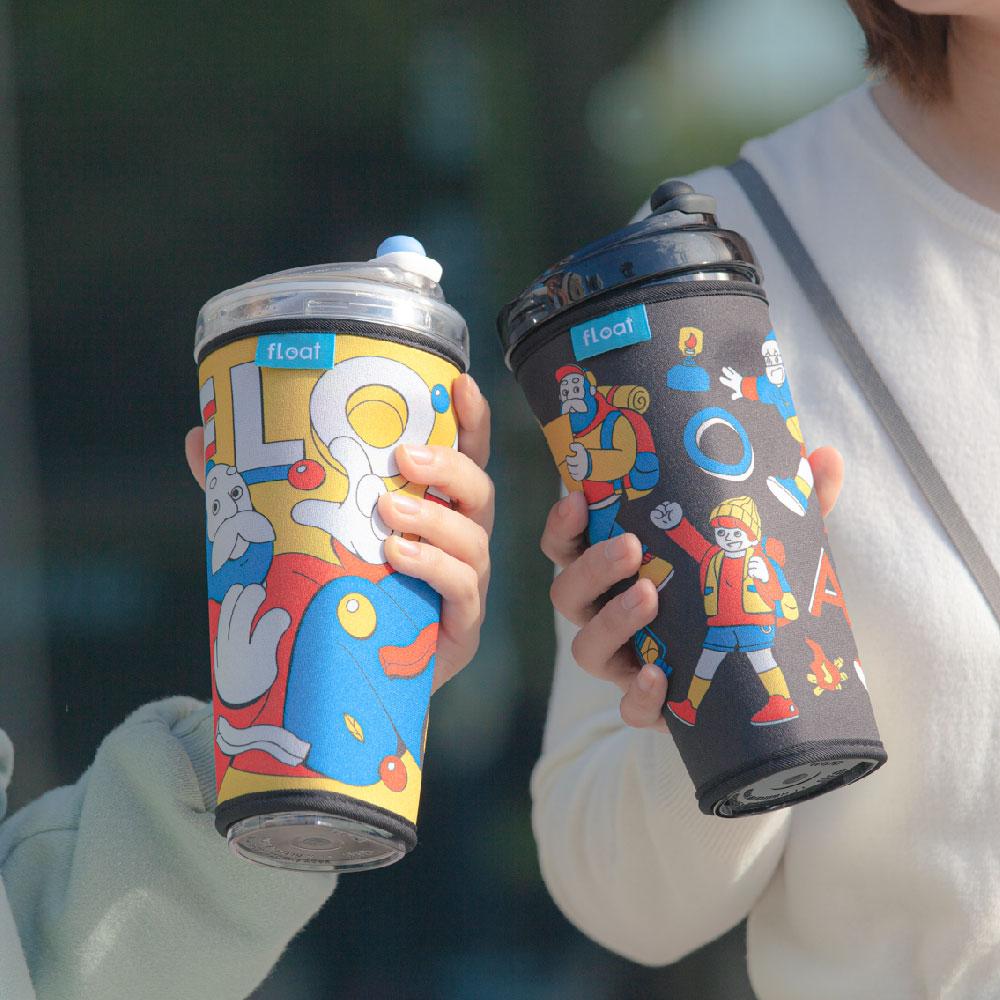 FLOAT|漂浮珍奶杯輕量杯套(都市漫遊)