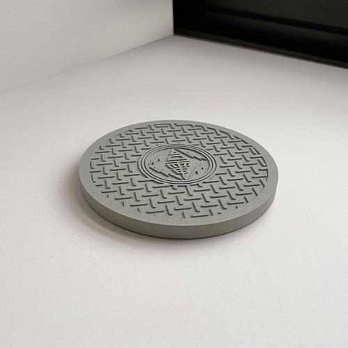 台電文創|人孔蓋水泥杯墊 煤灰系列
