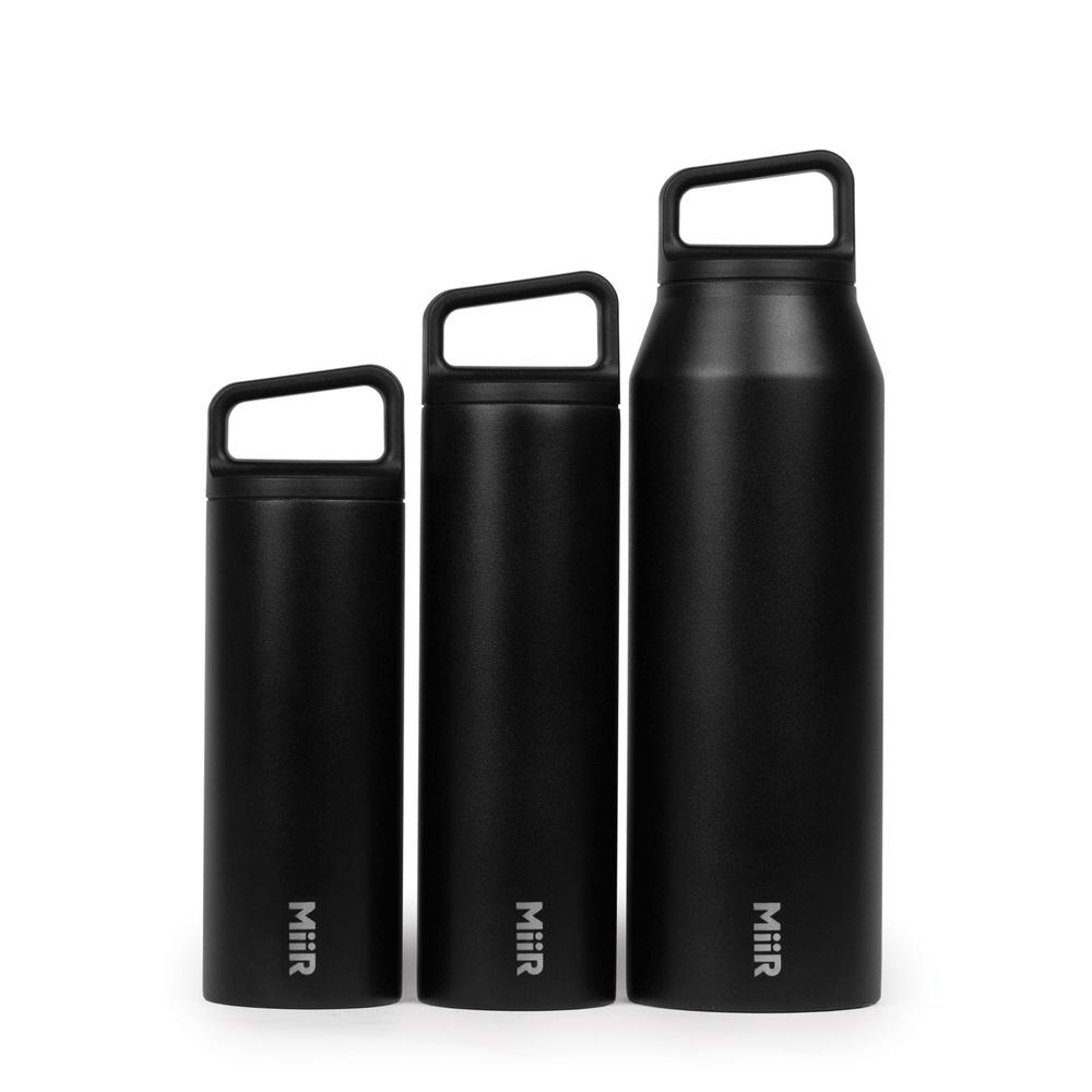 MiiR|雙層真空 保溫 保冰 寬口 提把蓋 保溫瓶 20oz / 591ml 經典黑