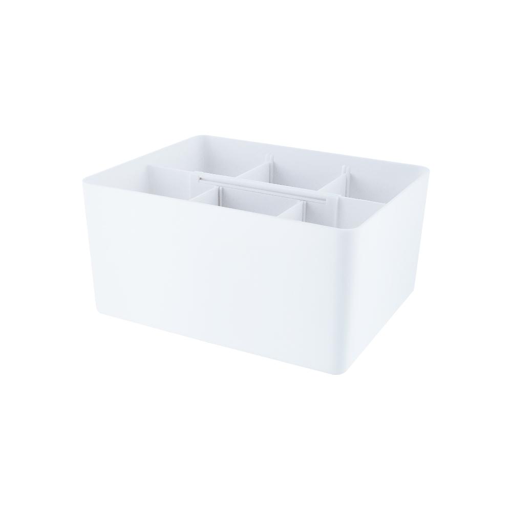 O-Life|伸縮式手把整理收納盒 兩件組 S-2802