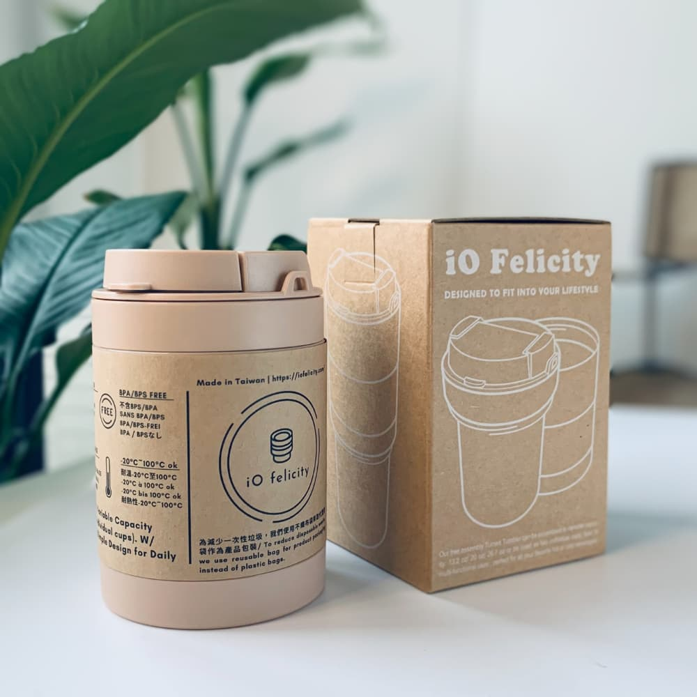 宜我 iO Felicity 轉轉杯 - 甜香奶茶 Ecozen版