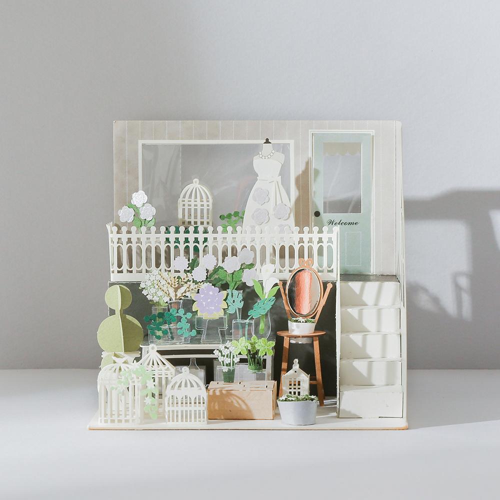 知音文創 法式花店 紙風景 紀念日DIY材料包