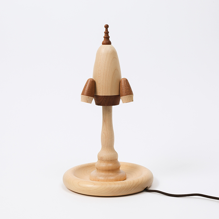 知音文創 火箭 木製家居燈 夜燈