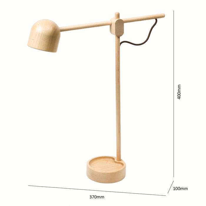 知音文創|圓罩小檯燈 立式檯燈 木製