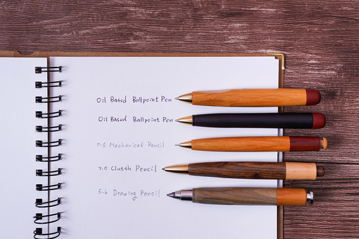 知音文創|原木油性筆 書寫筆 東非黑黃檀 大葉黃花梨