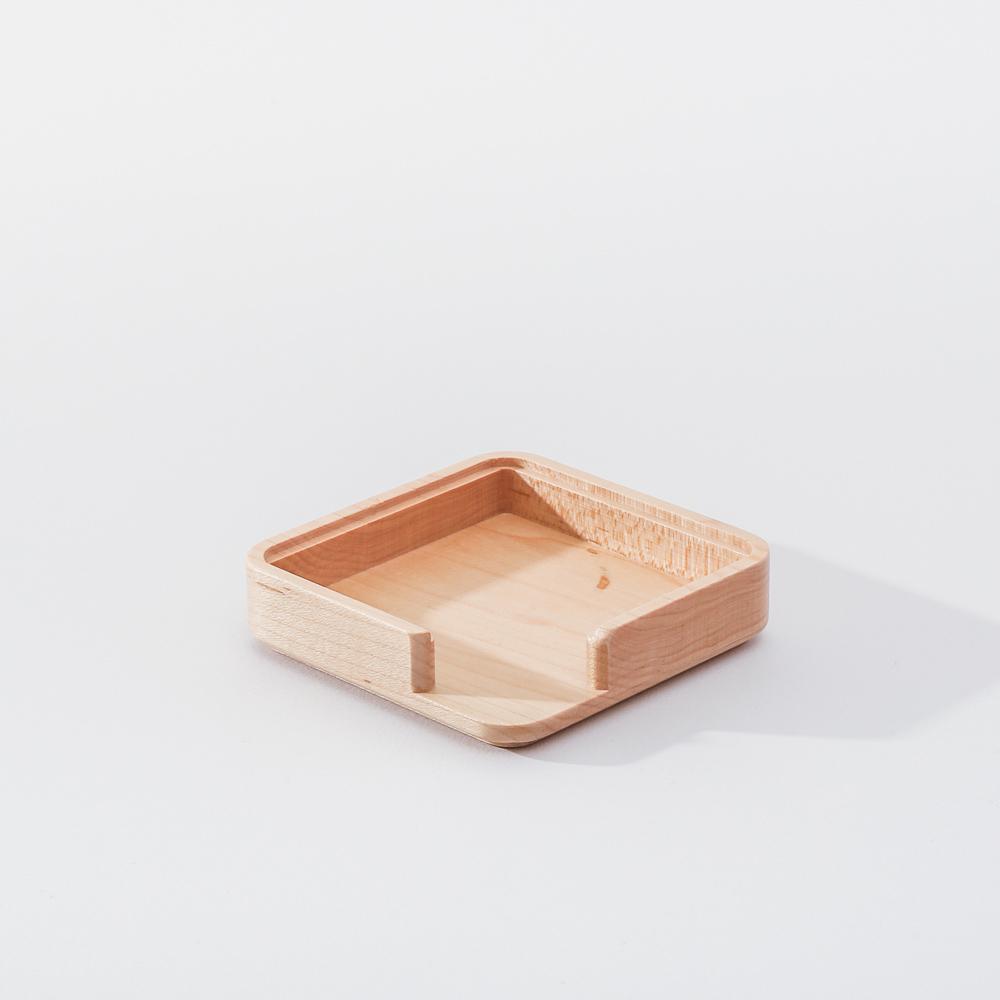 知音文創|實木堆疊文具收納 便條座