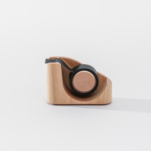知音文創|實木堆疊文具收納  紙膠帶台