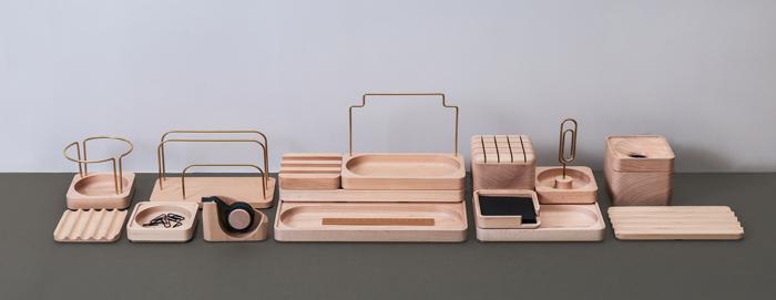 知音文創|實木堆疊文具收納 單格方盤