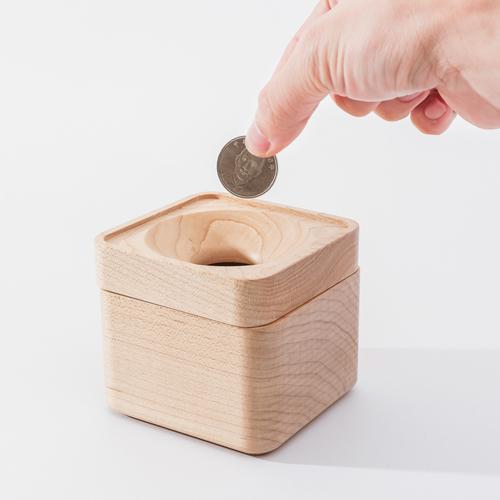 知音文創|實木堆疊文具收納  零錢盒