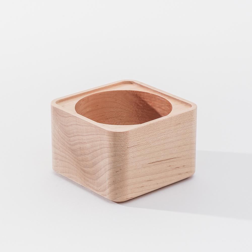 知音文創|實木堆疊文具收納 置物方盒-深