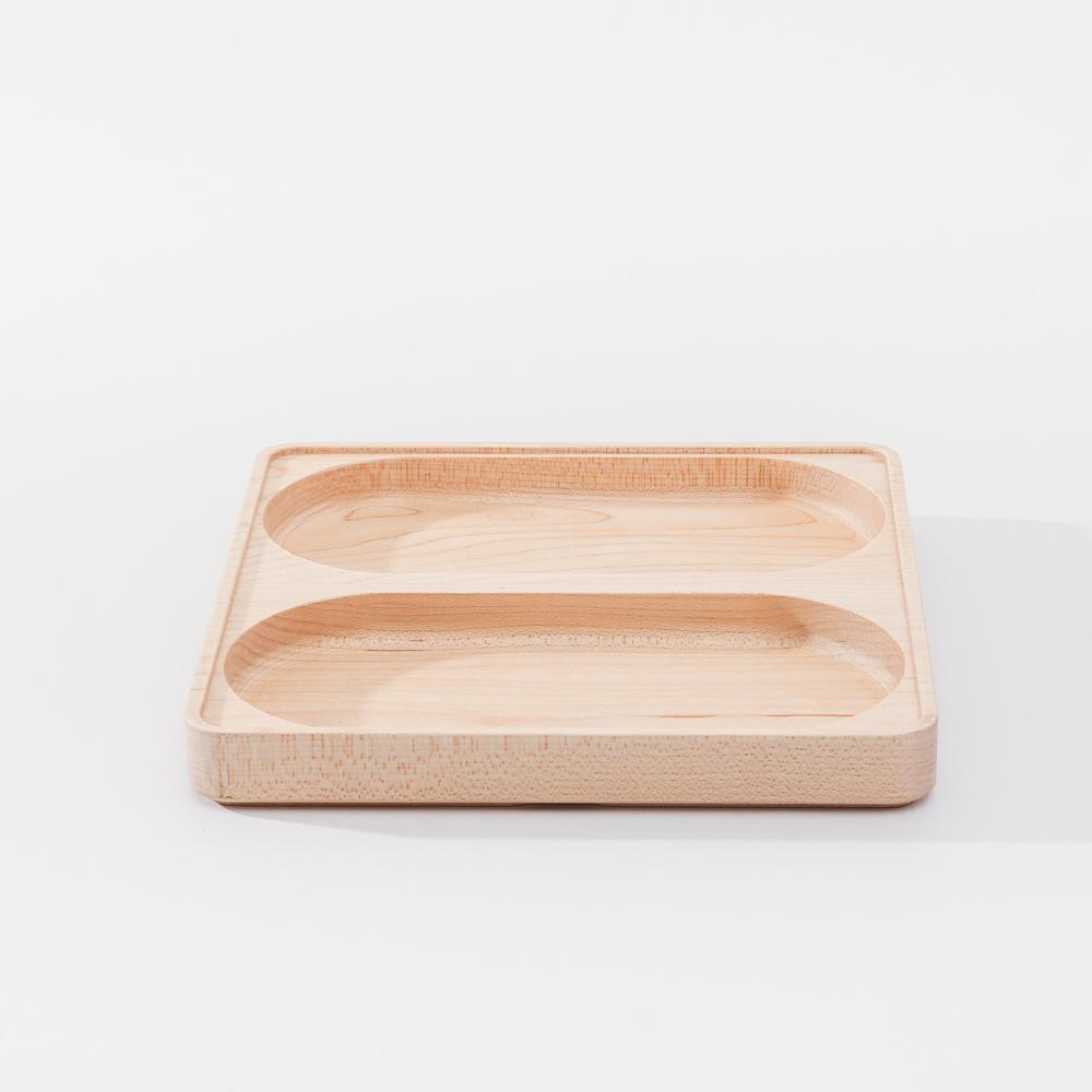 知音文創|實木堆疊文具收納 雙格長盤