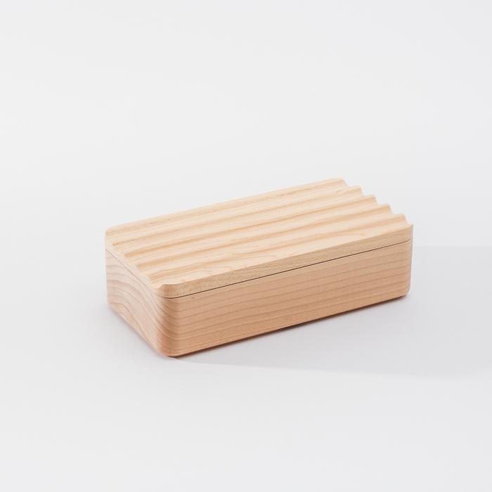 (複製)知音文創 實木堆疊文具收納 置物方盒-淺