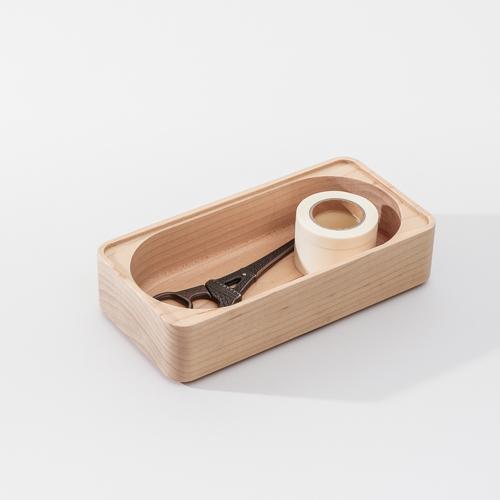 知音文創 實木堆疊文具收納 置物長盒