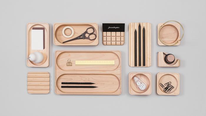 知音文創 實木堆疊文具收納 單格方盤