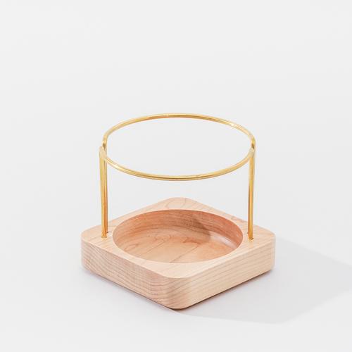 知音文創|實木堆疊文具收納  黃銅筆筒