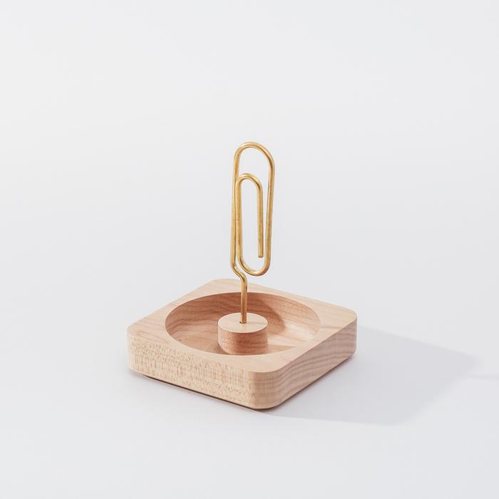 (複製)知音文創|實木堆疊文具收納  黃銅筆筒