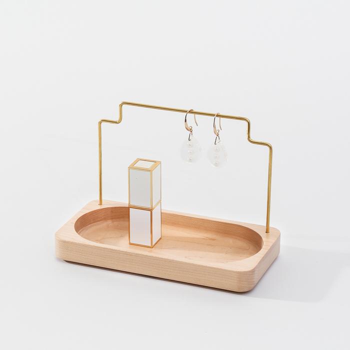 (複製)知音文創|實木堆疊文具收納  黃銅MEMO夾