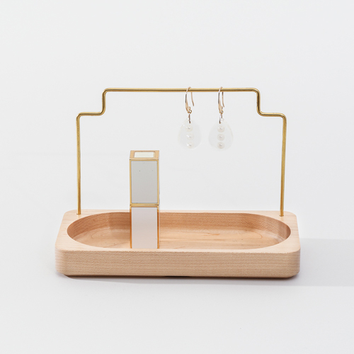 知音文創|實木堆疊文具收納  黃銅首飾架