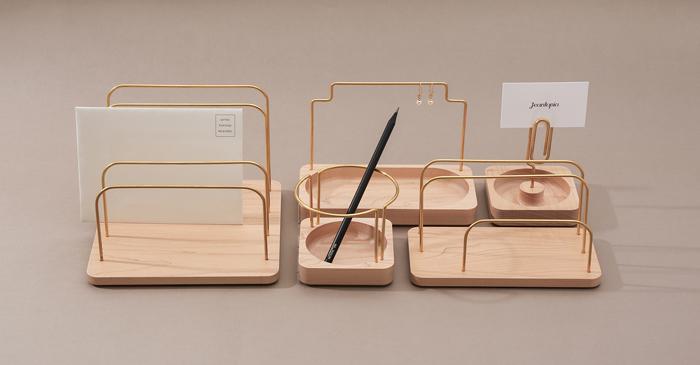 (複製)知音文創 實木堆疊文具收納  黃銅MEMO夾