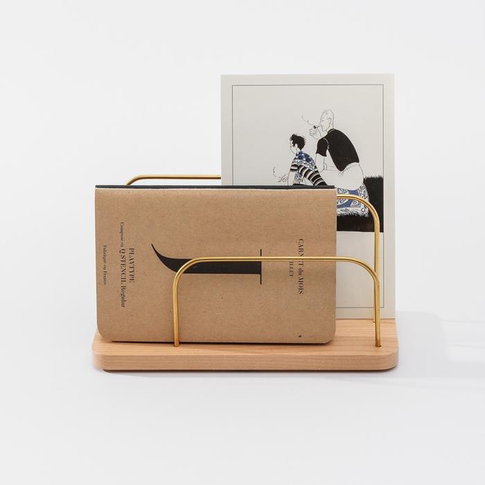 (複製)知音文創 實木堆疊文具收納  黃銅首飾架