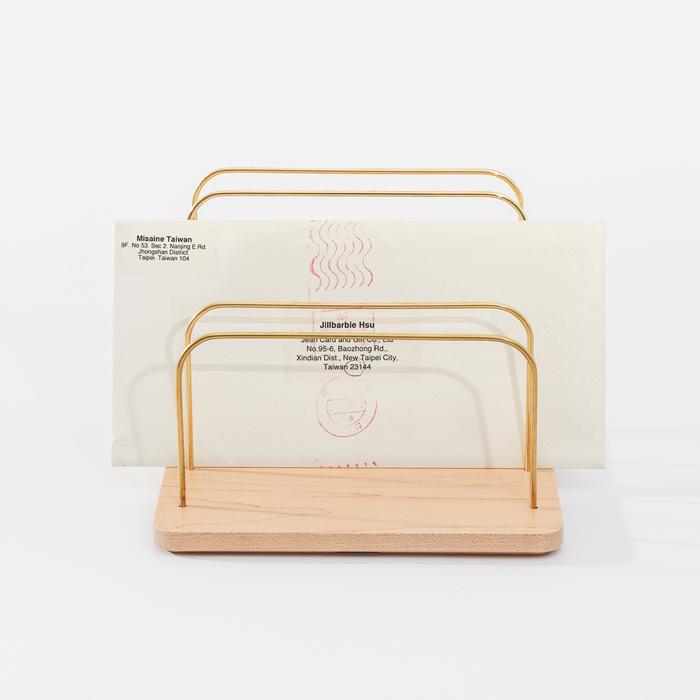 (複製)知音文創|實木堆疊文具收納  黃銅文件架S