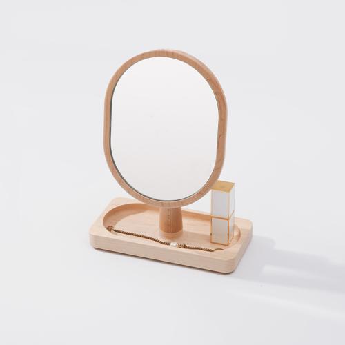 知音文創 實木堆疊文具收納  鏡台