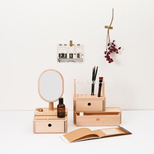 知音文創|實木堆疊文具收納  筆刷架