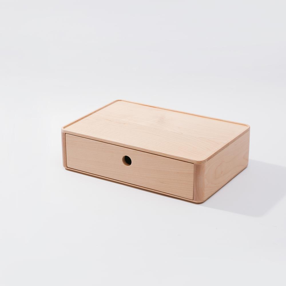 知音文創|實木堆疊文具收納  270*180單層抽屜