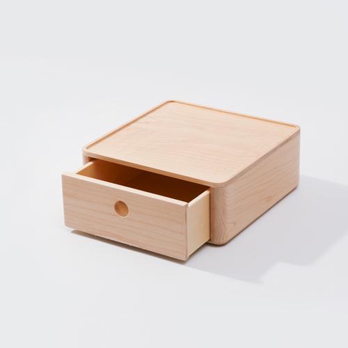 知音文創 實木堆疊文具收納  180*180單層抽屜