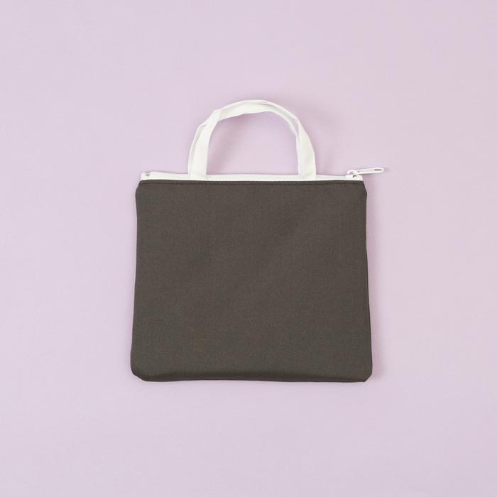 (複製)知音文創|化妝包 灰藍花萬用袋