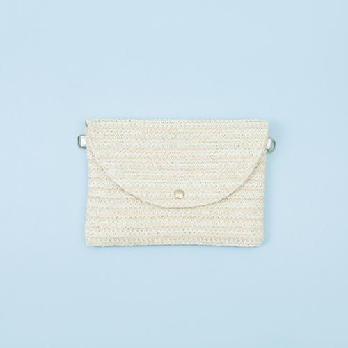 知音文創|萬用包 米色編織包