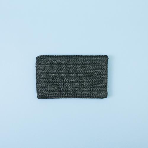 知音文創|萬用包 黑色編織包