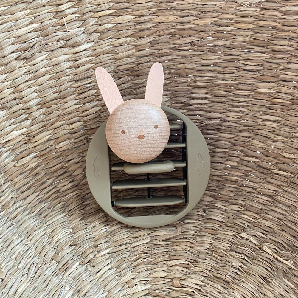 知音文創 香氛器具 車用擴香夾 兔子
