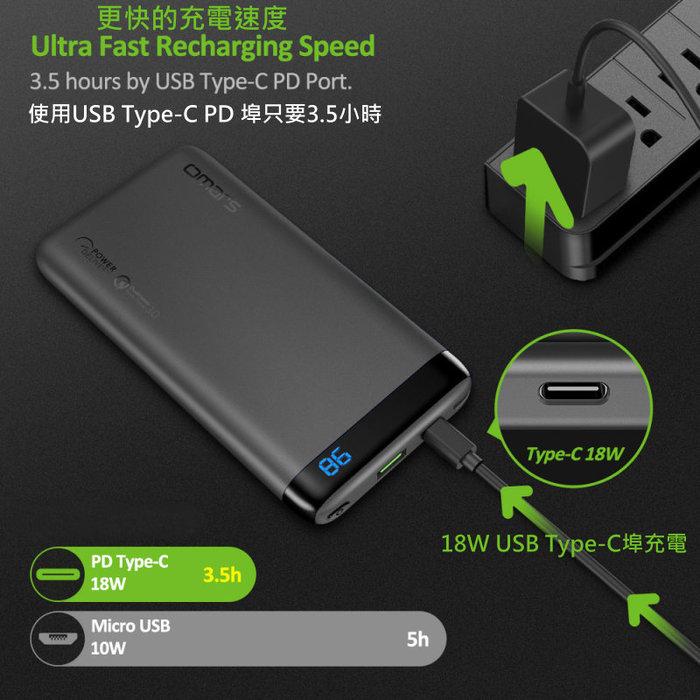 omars USB Type-C/PD 輕量快充行動電源(鋼鐵灰)