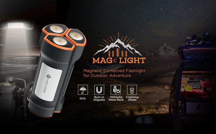 NOVOO 磁吸式LED照明行動電源-一入輕便組