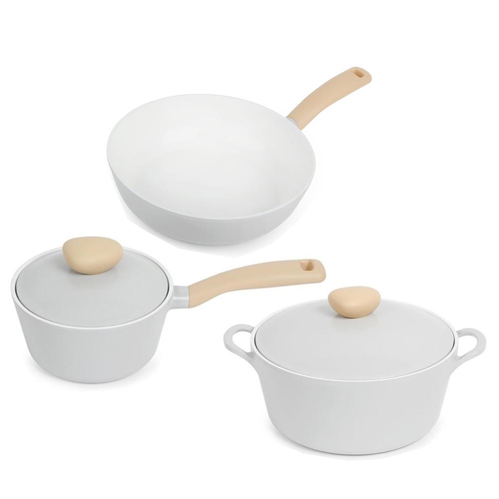 NEOFLAM|Retro系列公主鍋具3件組(26cm湯鍋+18cm單柄湯鍋+24cm平底鍋)