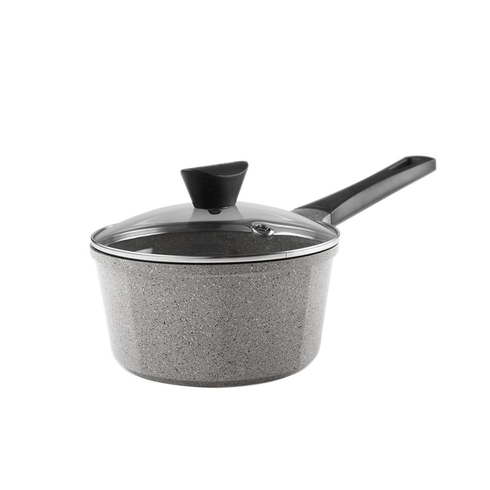 NEOFLAM|Venn系列18cm單柄湯鍋-淺大理石(含玻璃蓋)