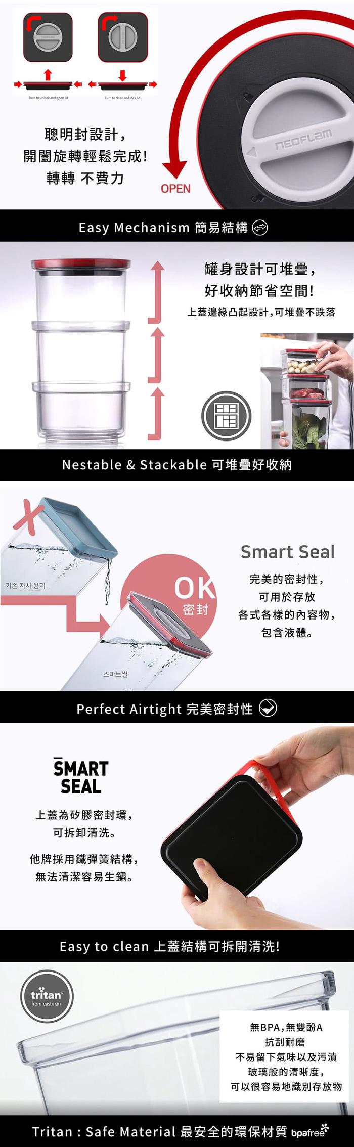 (複製)NEOFLAM FIKA GLASS系列玻璃保鮮盒1380ml
