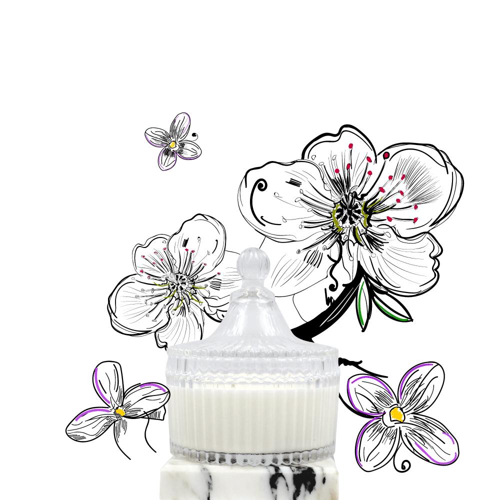 PINJI|HAU NI 花泥 蠟燭 250g